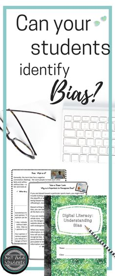 Are your students able to identify bias in resources?   Improve your students' critical thinking skills with these lesson plans that challenge them to identify bias.  This is a digital resource that is ready to be used with google classroom or one drive.  Students write directly into the notebook!  Ideal for research projects, digital literacy, library skills, and writing workshop.  #digitalliteracy #writing #lessonplans #justaddstudents