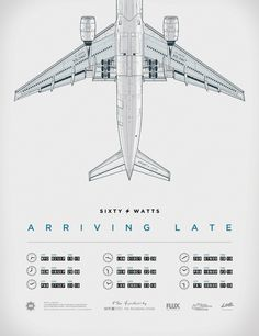Sixty Watts Arriving Late - Tour Poster by Gianmarco Magnani