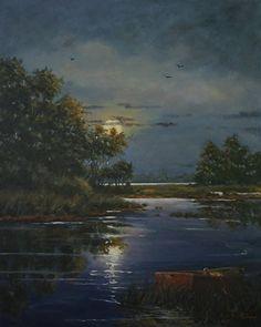 Moon Castings by Paula B. Holtzclaw Oil ~ 30 x 24