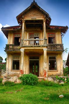 """""""Abandoned"""" -- [Old abandoned monks house on *Koh Dach, Cambodia*]~[Photograph by Photo Cambodia - December 2 2012]'h4d-69.2013'"""
