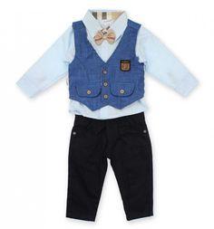 Danino Baby Erkek Bebek Yelekli Papyonlu Takım 019-4980-015 | Modelleri ve Uygun Fiyat Avantajıyla | Modabenle