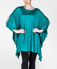 Another great find on #zulily! Light Green Batwing Tunic - Plus Too #zulilyfinds