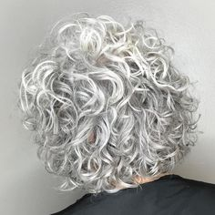 Short-To-Medium Gray Permed Hair