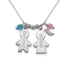 Personalised Kid's Charm Necklace for mums | MyNameNecklace