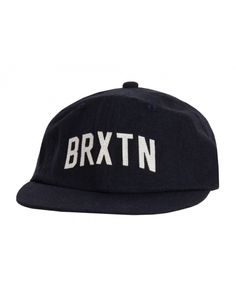 Brixton Hamilton Hat   Six panel cut and sew wool cap with custom felt appliqué and leather adjustable strap.
