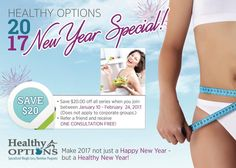 It's our #2017 New Year Special! #Save $20 when you sign up with #HealthyOptions between January 11 and February 24 2017!  Let Winsome help you make your dreams and New Year #Resolutions come true! Don't procrastinate - take charge of your health today - call (905) 607-7138.  ______________________________________    #nutrition #newyears #resolutions #healthyoptions #healthy #health #wellness #loseweight #weightloss #fitness #fitmom #fitspo #holistichealth #instahealth #instafood #instafit…