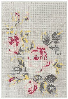 Wovenground | Modern Rugs | Canevas - Flower Rugs - cross stitch rug