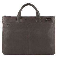 337452cde1 Man Woman Briefcase PIQUADRO BLACK SQUARE leather brown coach bag CA4021B3  TM (eBay Link)