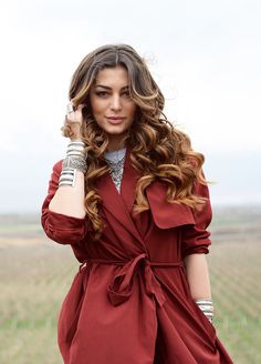 Lady in red: A fashion chameleon, Iveta slipped into this stunning jacket which tied beneath her ample bosom #eurovision #eurovision2016 #IvetaMukuchyan http://www.casinosolutionpro.com/eurovision-betting-odds.html
