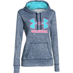 Under Armour Women's Big Logo Twist Volleyball Hoodie - Navy