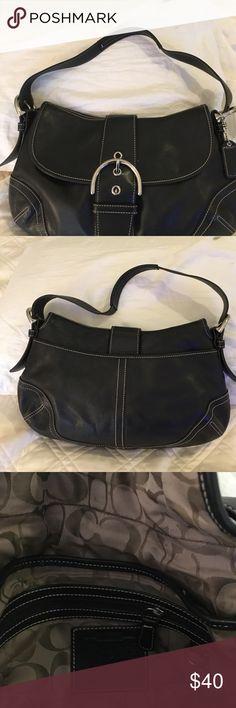 Blackcoach bag Medium size black authentic coach Coach Bags Shoulder Bags