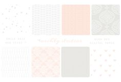 Check out Emily Rose- 8 web tiles & digi paper by michL g studios on Creative Market