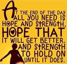 Hope quote via Carol's Country Sunshine on Facebook