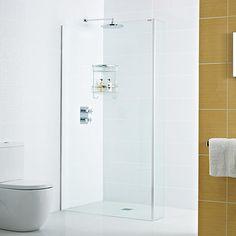 Decem Wetroom Panel and Optional L Return Panel -  Concealed Profile  http://www.roman-showers.com/shower-enclosures/decem/decem-wetroom-panel-and-optional-l-return-panel-concealed-profile/