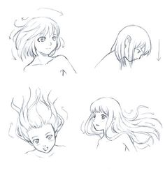 New Drawing Tutorial Manga Hair Ideas Hair Reference, Drawing Reference Poses, Drawing Techniques, Drawing Tips, Wie Zeichnet Man Manga, Pelo Anime, Manga Tutorial, Hair Sketch, Hair Flow