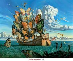 Ship of butterflies