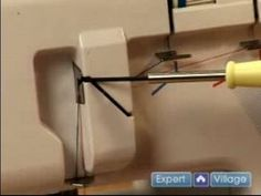 How to Sew: Using a Serger : Threading the Upper Threads on a Serger Sewing Machine