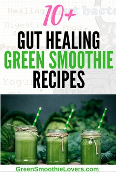 If you or a family member are dealing with a leaky gut, you may find relief from drinking one of these delicious AIP Smoothie Recipes (Paleo and Vegan). Packed full of anti-inflammatory foods! Click to see the full list of green smoothie recipes you can try today! Simple and easy to make! Paleo, Vegan/Gluten Free Recipes!