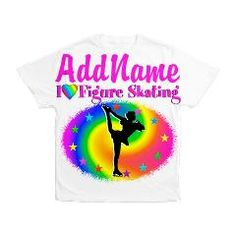 Pretty personalized Figure Skating design on Tees and gifts from www.cafepress.com/sportsstar to inspire your Ice Princess #Figureskate #Ilovefigureskating #Iceprincess #Figureskater
