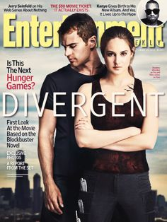 """dievrgent: """"  Theo James and Shailene Woodley (aka Fourtris) on the cover of Entertainment Weekly! """""""