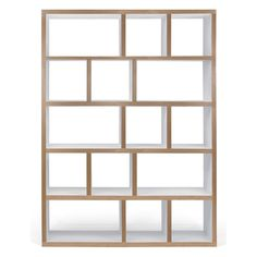 Shop the Berlin 5 Level Geometric Bookcase at Perigold, home to the design world's best furnishings for every style and space. Cube Bookcase, Etagere Bookcase, Bookcases, Contemporary Bookcase, Contemporary Furniture, Wood Shelves, Shelving, Cubes, Bibliotheque Design