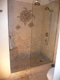 instockcabs.com - shower tile pictures, doorless shower, himacs
