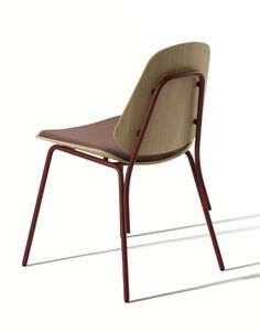 The Col collection of chairs was created as a memory and reinterpretation of typical school chairs of the and Capdell wanted me to design . Old Chairs, Vintage Chairs, Outdoor Chairs, Dining Chairs, Chair Design, Furniture Design, Metal Rocking Chair, Brown Accent Chair, Accent Chairs
