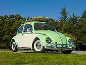 1967 Volkswagen Bug - Green And White #vw #beetle