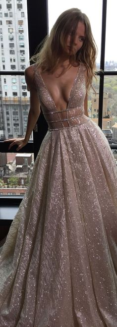 Simple Two Pieces Prom Dresses, Long A-line