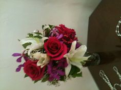 Brides bouquet created by Jessica of Roses too