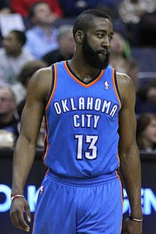 James Harden - Plays for the Oklahoma City Thunder - Olympic Gold Metalist Team USA Mens Basketball