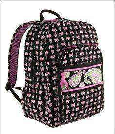 Vera Bradley Campus Backpack Pink Elephants   You can get additional  details at the image link. 5cfeebeae9af7
