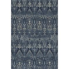 Enhance your decor with the Dalyn Geneva Indoor Area Rug. This hand-tufted Egyptian rug features a blend of colors that add subtle charm and visual impact, intentionally antiqued to add depth of color and visual texture. Area Rug Sizes, Blue Area Rugs, Blue Rugs, Ikat Pattern, Polypropylene Rugs, Navy Rug, All Family, Family Room, Rugs Online