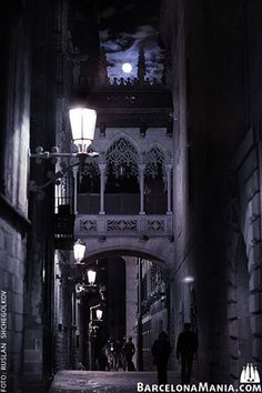 Barri Gòtic, nocturna Barcelona Catalonia
