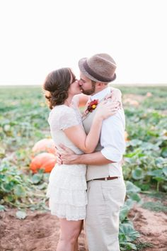 Pumpkin patch engagement session. SO cute.