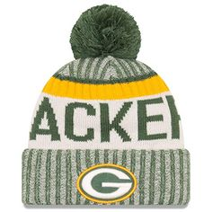 73d42df6b Finish off your Green Bay Packers look by rocking this 2017 Sideline  Official Sport Knit Hat from New Era. It features authentic Green Bay  Packers colors ...