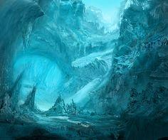 Ice Cavern by Novum1.deviantart.com on @deviantART