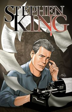 Just like many of his books, the recent biography comic book highlighting the life and career of author Stephen King is a sellout within the first week of its release and is heading for a second printing. Horror Fiction, Horror Movies, Stephen King Books, Stephen Kings, Film Blade Runner, King Art, French Films, Halloween Movies, Indie Movies