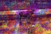 """New artwork for sale! - """" Animal Wild Nilgai Blue Bull  by PixBreak Art """" - http://ift.tt/2tFwsuk"""