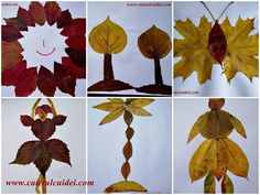 Activitati practice cu frunze de toamna - CAIETUL CU IDEI Pom Pom Tree, Arts And Crafts, Leaves, School, Fall, Flowers, Handmade, Anastasia, Blog