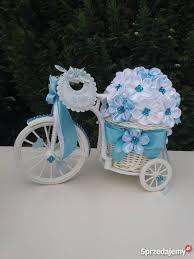 Znalezione obrazy dla zapytania jak ozdobić rowerek kwiatami ze wstążki