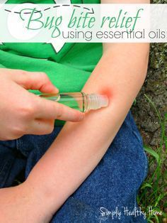 A DIY bug bite relief roll on. This easy remedy is made of a mixture of essential oils in a base oil to help soothe itches bites and stings and is kid safe.