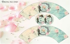 Alice in Wonderland Cupcake Wrappers with 2inch circles