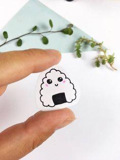 Kawaii Cute Tiny Riceball Stickers by KawaiiSekaiiWorkshop on Etsy