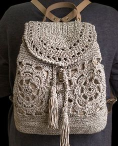 Crochet Poncho, Crochet Motif, Crochet Patterns, Crochet Backpack, Crochet Rabbit, Embroidery Bags, Crochet Shoes, Crochet Tote, Handmade Jewelry
