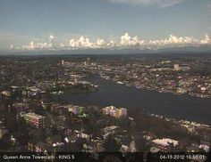 @KING 5 Towercam from Queen Anne - Lake Union in this captured view #seattle