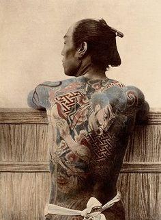 a0f145342 Photo Paysan tatoué - Kusakabe Kimbei Framing Canvas Art, Japanese Warrior,  Tattoo Photos,