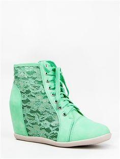 f6df6953627 Nature Breeze DANA-12 Lace Wedge Sneaker