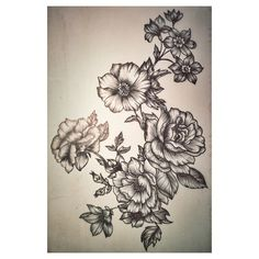 Floral2- design for a tattoo - my artwork Elissa Rocabado