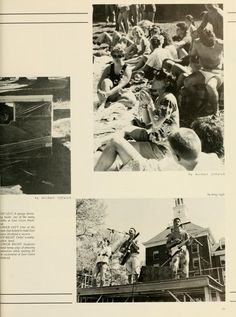 Athena Yearbook, 1987. Students enjoy the live music that is on East Green. :: Ohio University Archives